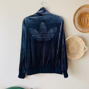 NWOT Gorgeous Adidas Velvet Queen Navy Velour